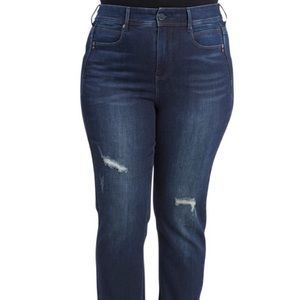 Seven7 Slim Straight Tummyless Denim Jeans